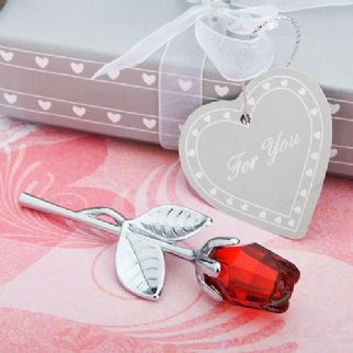 Crystal Red Rose Favour